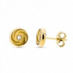Pendientes oro 18k redondos 8 mm. detalles