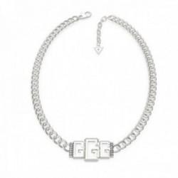 Gargantilla Guess mujer Chain Small 3G UBN70009 acero inoxidable 40 cm. rodiado mosquetón