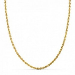 Cordón cadena oro 18k salomónico 40 cm. ligero 3 mm.