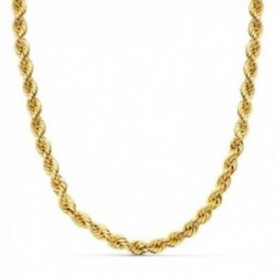 Cordón cadena oro 18k salomónico  ligero 5 mm.