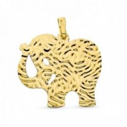 Colgante oro 18k mujer 30 mm. elefante detalles