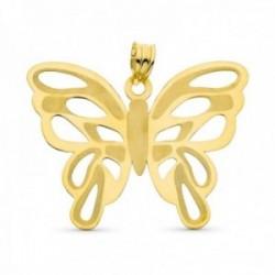 Colgante oro 18k mujer 39 mm. mariposa calada láser