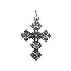 Cruz colgante plata Ley 925m Canjáyar 23 mm. Detalles