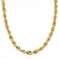 Cordón cadena oro 18k hombre 60 cm. salomónico ligero