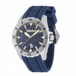 Reloj Timberland hombre 15024JS-03P Boylston Blue acero inoxidable silicona azul