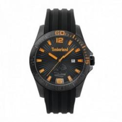 Reloj Timberland hombre 15352JSB-02P Dennett acero silicona negro visualización fecha