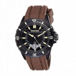 Reloj Timberland hombre 15578JSB-02P Medford acero negro silicona marrón visualización fecha