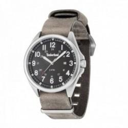 Reloj Timberland hombre 14829JS-02-AS Raynham acero inoxidable piel marrón visualización fecha