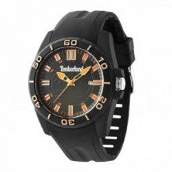 Reloj Timberland hombre 14442JPB-19P Dunbarton Dark silicona negra visualización fecha