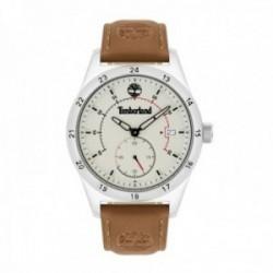 Reloj Timberland hombre 15948JYS-63 acero inoxidable piel visualización fecha