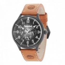 Reloj Timberland hombre 15270JSB-02 Blanchard aceiro inoxidable negro piel visualización día fecha