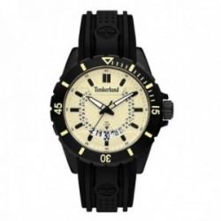 Reloj Timberland hombre 15578JSB-14P Medford acero inoxidable silocona negra visualización fecha