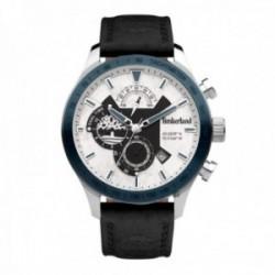 Reloj Timberland hombre TDWGF2100203 Stranton acero inoxidable pulsera piel visualización fecha