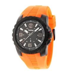 Reloj Timberland hombre 14478JSB-02P Ballard acero negro silicona naranja visualización fecha