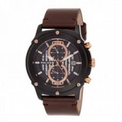 Reloj Police hombre R1451324001 Lulworth acero inoxidable negro piel visualización fecha