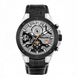 Reloj Police hombre PL.15711JSTB-04 Saiho acero inoxidable piel visualización día fecha