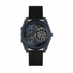 Reloj Police hombre PEWJA2117940 Wing 3h acero inoxidable piel tres esferas