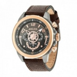 Reloj Police hombre R1451280008 Belmont acero inoxidable piel visualización día fecha