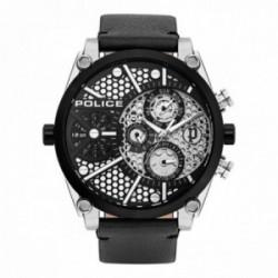 Reloj Police hombre PL.15381JSTB-04A Vigor acero inoxidable piel visualización día fecha