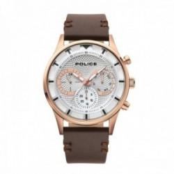 Reloj Police hombre PL.14383JSR-04 Driver multi acero inoxidable piel visualización día fecha