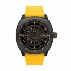 Reloj Police hombre R1451290006 Speed acero inoxidable negro silicona amarilla