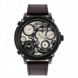 Reloj Police hombre PL.15659JSB-14 Titan Multi acero inoxidable negro piel visualización día fecha