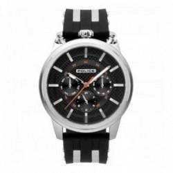 Reloj Police hombre R1451299001 Upside acero inoxidable silicona negra franjas grises