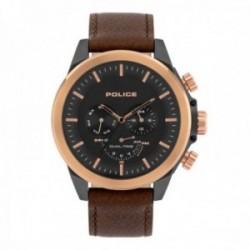 Reloj Police hombre PL.15970JSUR-02 Belmont acero inoxidable piel multifunción visualización día