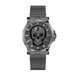 Reloj Police hombre PEWJG2108502 Vertex 3H Black acero inoxidable motivo calavera central