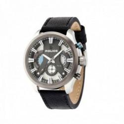 Reloj Police hombre R1471668003 Cyclone CHR acero inoxidable piel visualización día fecha