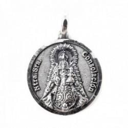 Nuestra Señora Consolación Virgen Utrera medalla plata Ley 925m maciza 19 mm. Sevilla relieve