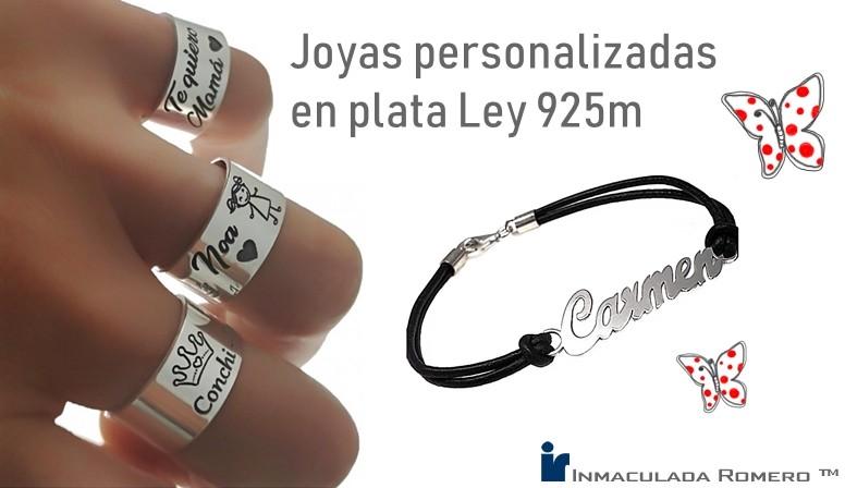joyas personalizadas plata Ley 925 milésimas