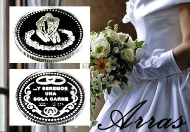 Arras de plata y de alpaca para bodas