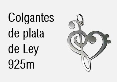 Colgante de plata de Ley 925m